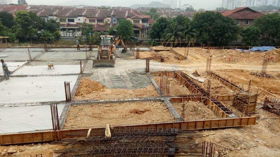 Perkembangan Pembinaan Masjid Prima Saujana