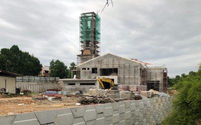Gambar Terkini Perkembangan Pembinaan Masjid